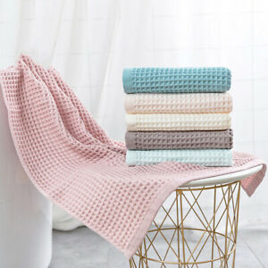 Cotton Waffle Bath Towels For Adult Soft Absorbent Towel