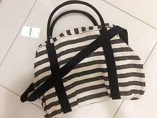 country road tote bag Black stripe