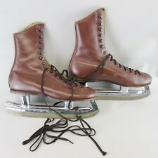 Classic Vtg Brown Burgoyne Vintage Skates Brown Size 4.5 Riedell Red Wing Mn