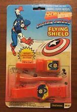 Rare Marvel Superheroes Secret Wars Captain America Flying Shield