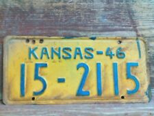 1946 Vintage Atchison County Kansas Tag