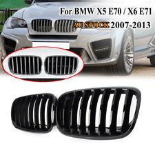 2x Gloss Black Front Bumper Kidney Grille Grill For BMW E70 X5 E71 X6 2007-2013