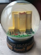 "Harrahs St. Louis Casino Hotel Snow Globe Snowdome Ball 4"" Happy Holidays"