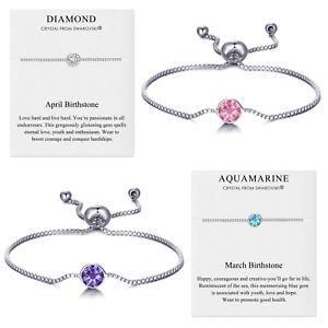 Birthstone Bracelets Created with Crystals from Swarovski® by Philip Jones