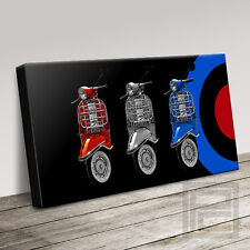 VESPA SCOOTER MODS STYLE WONDERFULLY DECORATIVE CANVAS PRINT PICTURE ArtWilliams