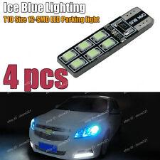 4-pc Aqua Ice Blue Error Free T10 2825 W5W LED Bulbs For Parking City Light 1A