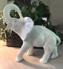 Large White Stone Elephant