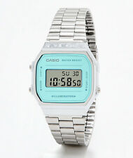 Casio Vintage Collection Silver Blue Digital Retro Watch A168WEM-2VT