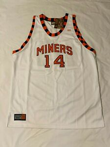 NEW Mens Nate Archibald UTEP Miners #14 5XL Jersey - Hardwood Legends Authentic