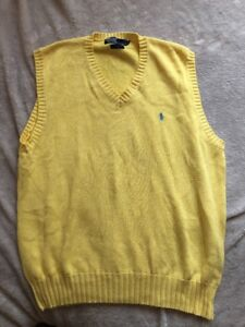 Polo by Ralph Lauren Yellow Sweater Vest (V Neck) XL