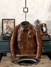 Handcrafted luxury men's leather jackets from japan size 2xl