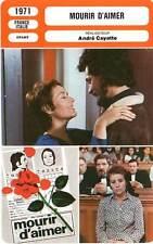 FICHE CINEMA : MOURIR D'AIMER Girardot,Pradal,Cerval,Cayatte 1971 To Die of Love
