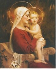 Catholic Print Picture OUR LADY OF MOTHER LOVE Mary & Jesus C. Bosseron Chambers