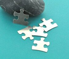10 Nickel Silver Stamping Blanks AUTISM PUZZLE PIECE Tags, 24 gauge . msb0023
