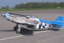 "1/5  Scale P51 Mustang  98""  Giant Scale RC Model AIrplane Printed Plans"
