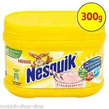 NESQUIK STRAWBERRY FLAVOUR MILKSHAKE POWDER...300G TUB