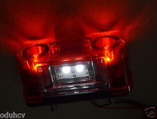 2 pcs 4 SMD LED Lights Front Rear License Number Plate Lamps Truck Scania Iveco