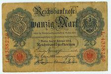 Banknote Deutsches Reich 20 Mark 1914 Ro. 47b