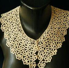 Victorian unique collar h.crochet lace resemblance  coralline lace