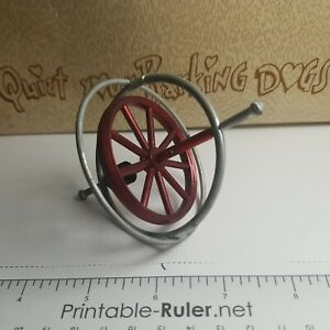 ANTIQUE VINTAGE RETRO METAL GYROSCOPE SPINNING TOP TOY CAST IRON METAL