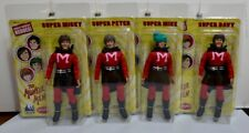 "The Monkees 8""  Retro Style Action Figures: SUPERHERO Outfit Set of all 4"