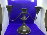 Antique vintage silver plated made in England triple candelabra