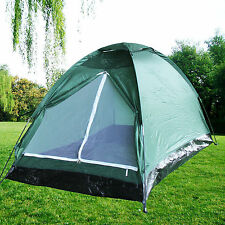 Army Green Waterproof 2 Person Camping Tent Outdoor Hiking Easy Setup Backpack