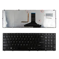 The new Keyboard for TOSHIBA Satellite A660 A665 BLACK FRAME GLOSSY(Backlit) US