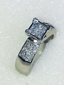 Designer Diamant Ring 585 Weißgold 57 Brillanten 1,40ct Gr. 54 /17