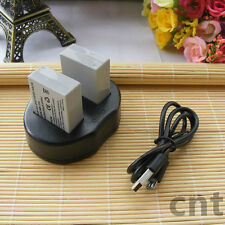 2X NB-10L Battery+ USB Dual Charger for Canon Powershot SX40 SX50 SX60 HS G16