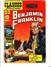 Classics Illustrated 65 (1949): Benjamin Franklin: Orig: Free to combine: Good