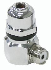 """RIGHT ANGLE STAINLESS STEEL STUD ADAPTOR WITH DOME STUD, 3/8""""X24 THREADS"""