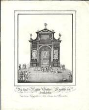 Stampa antica EINSIEDELN Cappella della Madonna Nera 1850 Old Antique print