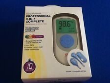 Digital Thermometer, professional accuracy, 3 changeable soft tips, New