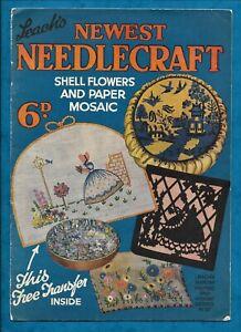 "1920s LEACH'S ""NEWEST NEEDLECRAFT"" MAGAZINE EMBROIDERY, KNITTING, CRAFTS"