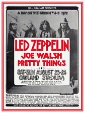 Led Zeppelin **POSTER** Live Concert 1975 - Joe Walsh & Pretty Things print