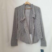 Lucky Brand Grey Crochet Knit Lace Cardigan Size US Extra Large