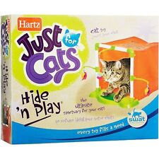 Hartz Hide n play toy - Crinkly Sack Tunnel Feather Kitten Cat Activity Center