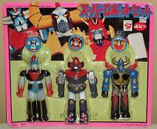 "Super Robot Set Gaiking, Grendizer, Combattler V 13.5cm 5.3"" Popy Soft Vinyl New"