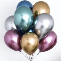 "5x 10""  Metal Balloons Bouquet Double Balloon Chrome-like Birthday Wedding Party"