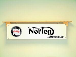Norton Motorcycle Banner Workshop Classic Bike Display Atlas Dominator P11