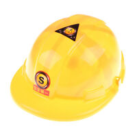 1pc Simulation Safety Helmet Pretend Role Play Hat Toy Construction FDS