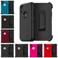 For iPhone XR Defender Case With Screen & Belt Clip (Belt Clip Fits Otterbox)