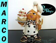 New Pendelfin Rare Marco chef baker stoneware figurine rabbit Bunny w/ Box