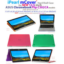 "NEW mCover Hard Shell Case for 12.5"" ASUS Chromebook Flip C302CA Series laptop"