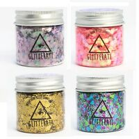 Chunky Mixed Glitter Large 30g Pots for Face Body Eye Festivals Tattoo Cosmetic