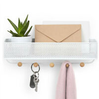 Wall Mount Mail and Key Rack Holder Letter Hook Storage Decor with 5 Hooks
