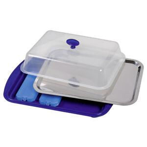 Assheuer+Pott Thermo Tablett Set Kühlplatte Kuchen Brötchen Buffet Servierplatte