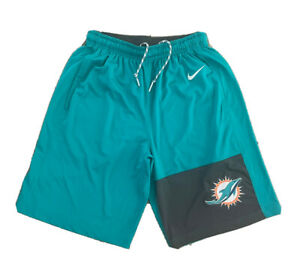 Auth NFL Nike Tech Auth Miami Dolphins Issued Shorts On Field Football Sz Small