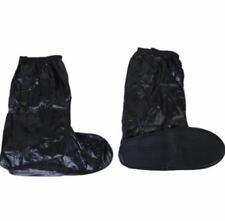 Foldable Waterproof Rain Shoes Cover With Rubber Sole (Black) Size 44